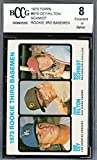#10: 1973 topps #615 RON CEY / HILTON / MIKE SCHMIDT phillies rookie card BGS BCCG 8 Graded Card