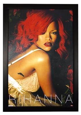 "Rihanna, Roses Singer Actress Recording Artist 24""x36"" Framed Celebrity Poster (E2-1084)"