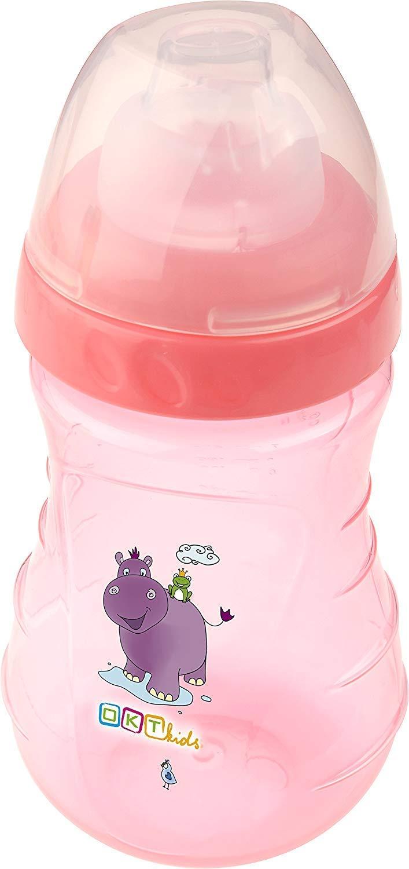 4er Set: 2X Botella de Bebé + 2X Chupete Hippo Rosa: Amazon ...