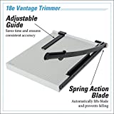 "Dahle 18e Vantage Paper Trimmer, 18"" Cut Length, 15 Sheet, Automatic Clamp, Adjustable Guide, Metal Base with 1/2"