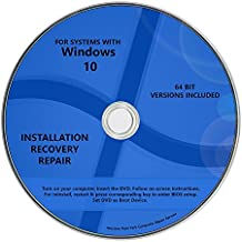 Windows 10 Pro & Home Install Reinstall Restore Upgrade Repair Recovery 64 bit x64 WNYPC Backup Utility DVD