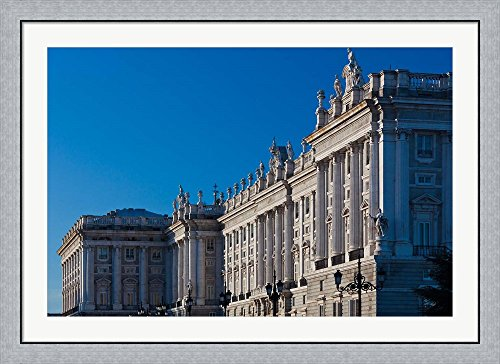 Palacio Real, Madrid, Spain by Walter Bibikow / Danita Delimont Framed Art Print Wall Picture, Flat Silver Frame, 45 x 33 inches by Great Art Now