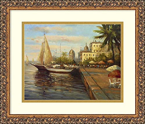 Bolo Santo Domingo Harbor - Framed Wall Art Print | Home Wall Decor Art Prints | Santo Domingo Harbor by Bolo | Traditional Decor