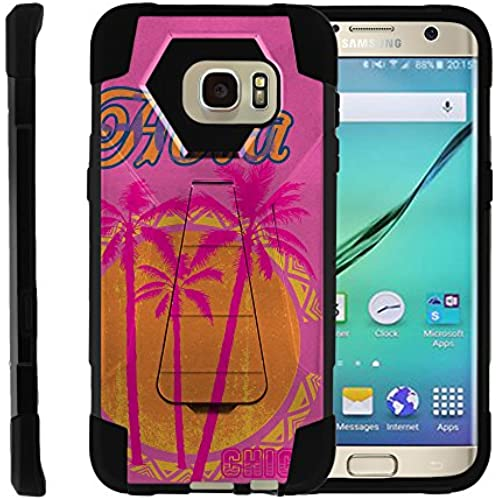 Samsung Galaxy S7 Edge | SHOCK Series Impact Hard Rubber Durable Unique Creative Cover, by Miniturtle - Pink Palm Sales