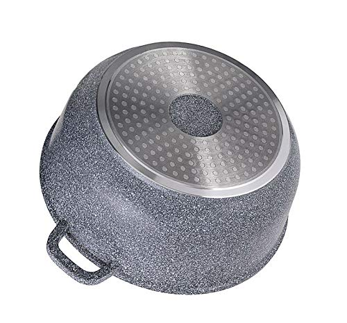 EDENBERG EB-8004 - Olla con tapa de cristal (revestimiento de mármol ...