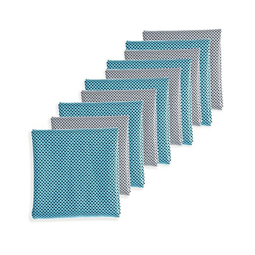 Biange Cooling Towel (10 pack) for Sports, Workout, Fitness, Gym, Yoga, Golf, Pilates, Travel, Camping & More