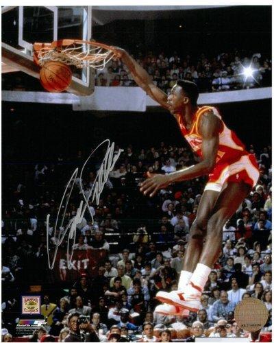 tographed Atlanta Hawks 8x10 Photo #2 - 1988 Dunk Contest Finals (Dominique Wilkins Atlanta Hawks)