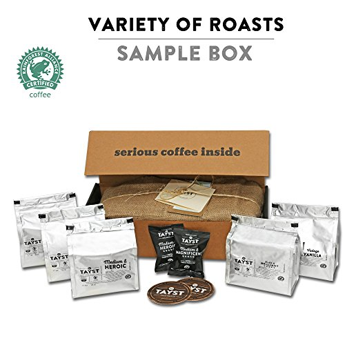 Tayst Coffee Pods   50 ct. Sample Box   100% Compostable Keurig K-Cup compatible   Gourmet Coffee in Earth Friendly packaging (Kcups Recyclable)