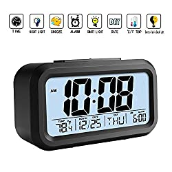 Clock Alarm ProjectionDigital Led Desk Calendar Snooze Backlight Thermometer Modern