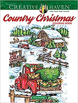Creative Haven Country Christmas Coloring Book Creative ...