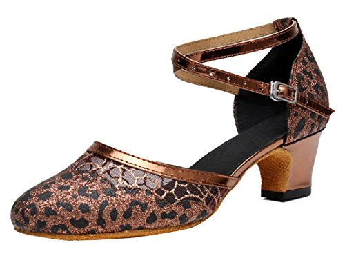 35 Sandali Heel MGM Brown EU Zeppa con Donna 5cm Marrone Joymod Rq8zwSqO