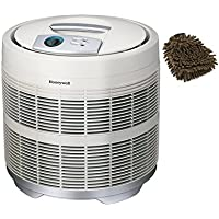 50250-S Honeywell Air Purifier True HEPA Filter, Prefilter, 390 Sq. Ft (Complete Set) w/ Bonus: Premium Microfiber Cleaner Bundle
