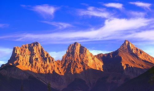Posterazzi Three Sisters Mountain Canmore Alberta Canada Poster Print, (36 x 20)