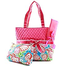 Quilted Coral Reef 3pc Diaper Bag Set