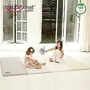 [Alzip New Eco Mat] Folding, Non-Toxic, Reversible SG Playmat -Modern Gray Color (240x140x4cm)