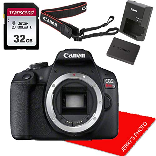 Canon EOS Rebel T7 DSLR Camera Body (No Lens) + 32GB Memory Bundle