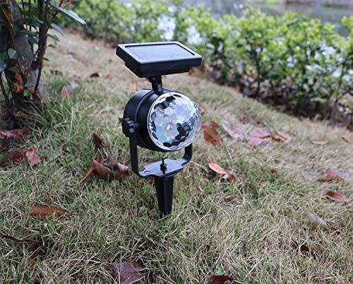 Facethoroughly Proyector de energía Solar para Exteriores, con luz ...