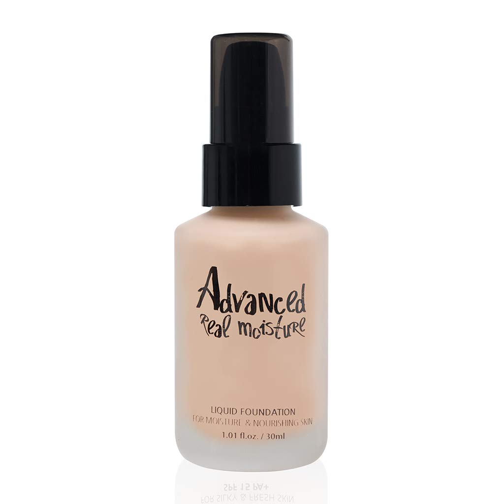 TOUCH IN SOL Advanced Real Moisture Liquid Foundation 1.01 fl. oz. (30ml) - A Light Weight Hydrating Foundation, Long Lasting High Adhesive Coverage (#21 Nude Beige) by Touch in Sol