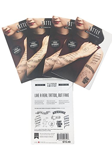 40 Tattly Temporary Tattoos Hipster & Child Bundle of 5 Sets (5 Single & Stoked (Total of 40 -