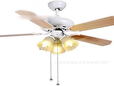 Ventilador de techo decorativo simple lámpara, lámpara ventilador de lujo, ventilador eléctrico, hogar de hojas de ventilador: Amazon.es: Iluminación