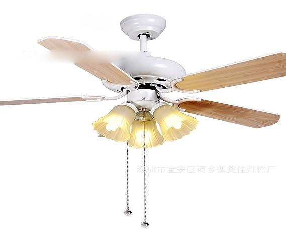 Ventilador de techo decorativo simple lámpara, lámpara ...