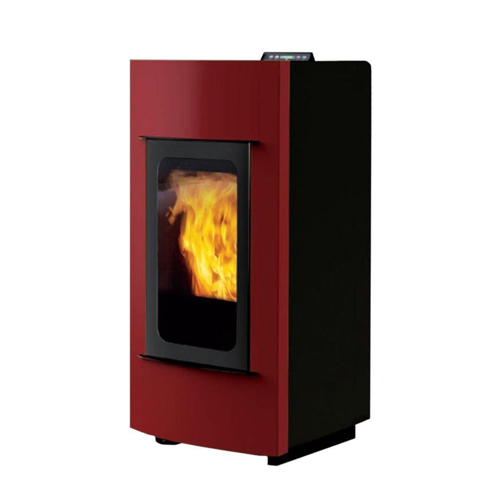 BLANCO estufa termoestufa A pellets 23kw Burdeos Display Calefacción 801340: Amazon.es: Hogar