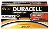 Duracell MN1604BKD CopperTop Alkaline-Manganese Dioxide Battery, 9V (Case of 72)