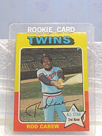 1975 Minnesota Twins Rod Carew All Star Baseball Card