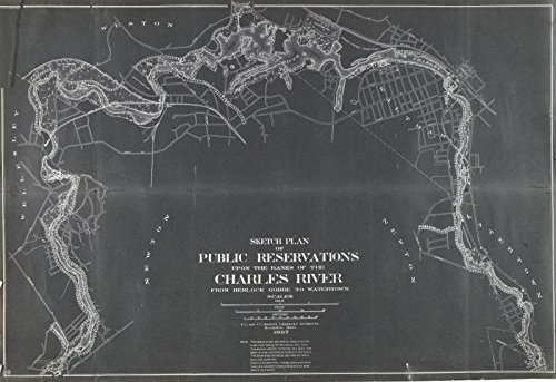 (Historic Pictoric Map | Newton, Charles River Reservations 1897 | Nirenstein's National Preferred Real Estate Locations of Business Properties | Vintage Poster Art Reproduction | 24in x 16in)