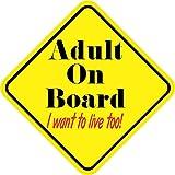 5in x 5in Adult On Board Sticker
