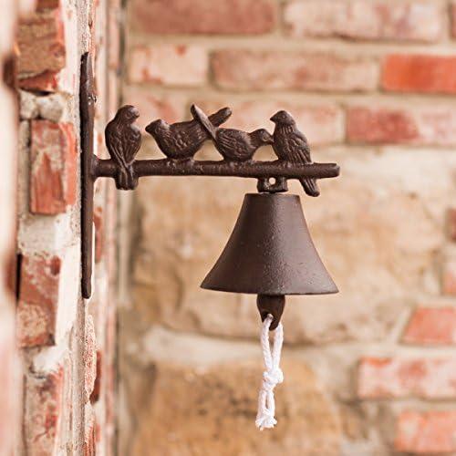 Gartenglocke mit Vögel Glocke im Landhausstil Türglöckchen mit Vögelchen
