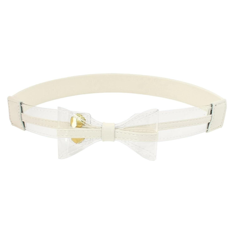 Bowknot Design Press Stud Button Stretchy Cinch Waist Belt for Women