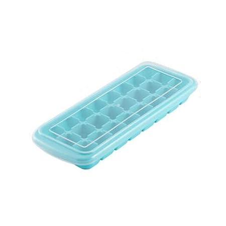 Bandeja de hielo de silicona, Molde de cubitos de hielo, Bandeja ...