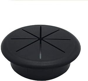 "HYCC 2-3/8"" Flexible Desk Grommet - Color: Black - 10 Pack"