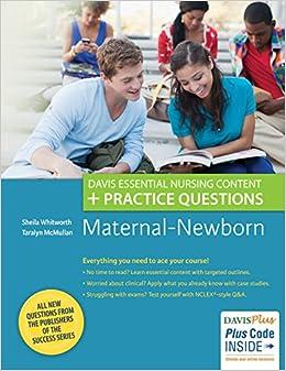 Book Maternal-Newborn: Davis Essential Nursing Content + Practice Questions