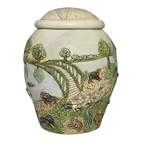 Perfect Memorials Dog Rainbow Bridge II Pet Cremation Urn ()