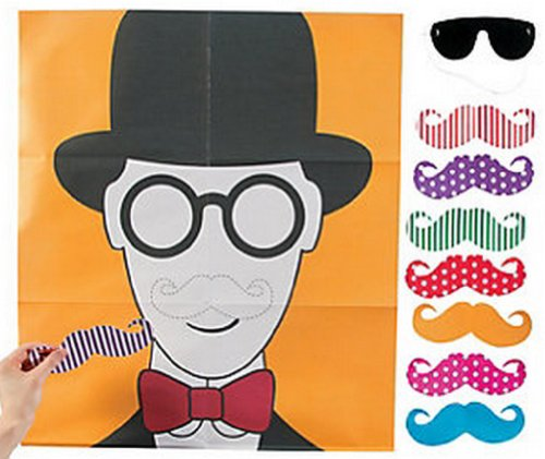Pin the Flashy Stache Game, Mustache,games, Toys,party