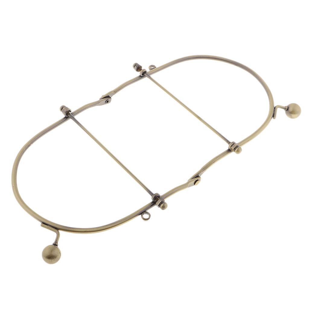 B Baosity Cartera de Embrague Cierre de Metal Bolsa de Bricolaje Marco de Artesan/ía Broche de Beso Bloqueo 10.5cm