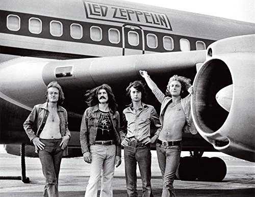 Led_Zeppelin_Airplane_Starship_Plane_Bob_Gruen 8 X 10 Photo