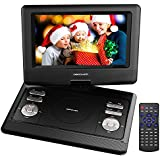 DBPOWER 10.5 Inch Portable DVD Player with Rechargeable Battery, SD Card Slot and USB Port - Black