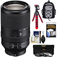 Sony Alpha E-Mount FE 70-300mm f/4.5-5.6 G OSS Zoom Lens with 3 Filters + Backpack Case + Flex Tripod + Kit for A7, A7R, A7S Mark II Cameras