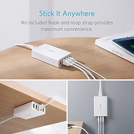 Anker 40W 5-Port USB Wall Charger, PowerPort 5 for iPhone Xs/XS Max/XR/X/8/7/6/Plus, iPad Pro/Air 2/Mini, Galaxy S9/S8/Plus/Edge, Note 8/7, LG, Nexus, ...