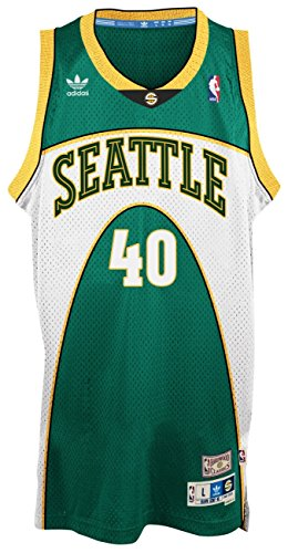 Shawn Kemp Seattle Supersonics Adidas NBA Throwback Swingman Green (Green Throwback Jersey)