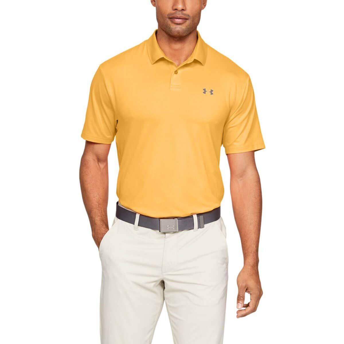 Under Armour Golf Performance Polo 2.0 Mango Orange/Pitch Gray 3XL ...