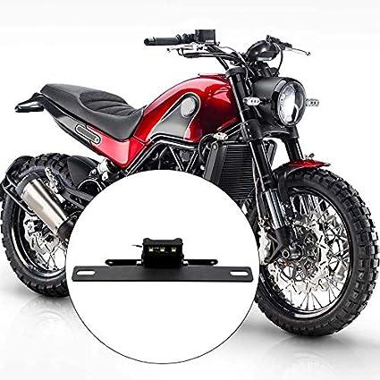 Nrpfell Staffa Supporto Telaio Targa Posteriore Targa Moto Modificata con Luce LED per Benelli 752S