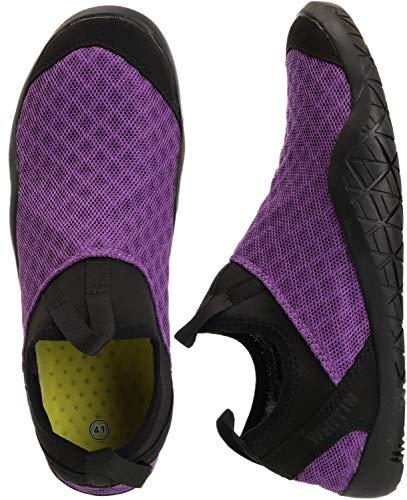 WHITIN Women's Quick Drying Water Shoes for Aqua Hiking Trail Running Sport Minimalist Barefoot Wave Walking Beach Swim Surf Outdoor Kayaking Athletic Female Ladies Purple Size 7