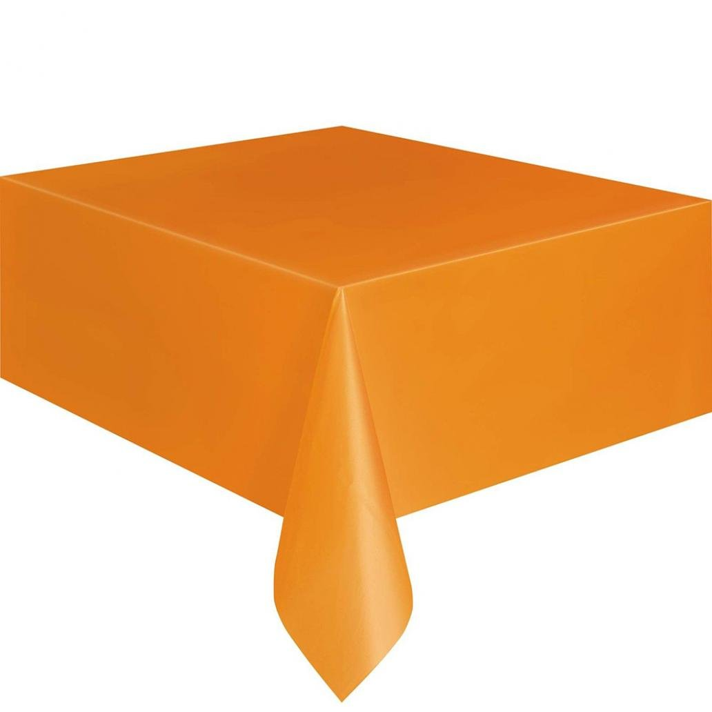 display08 Disposable Plastic Rectangle Table Cover Party Catering Tablecloth - 137x280cm (Golden)