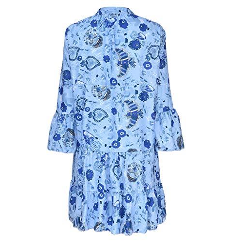 Vestido Corto Bohemio para Mujer Vestido Suelto Informal de ...