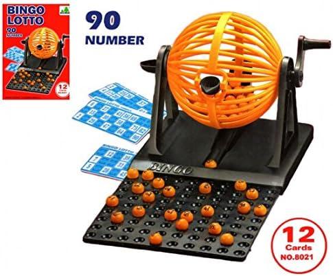 Bingo Juego Con Play Cards Máquina de Bingo Loto: Amazon.es ...