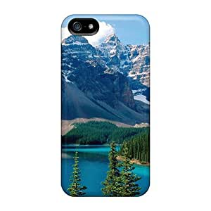 Case For Sam Sung Galaxy S5 Cover Premium Protective Case With Look - Nature Mountains